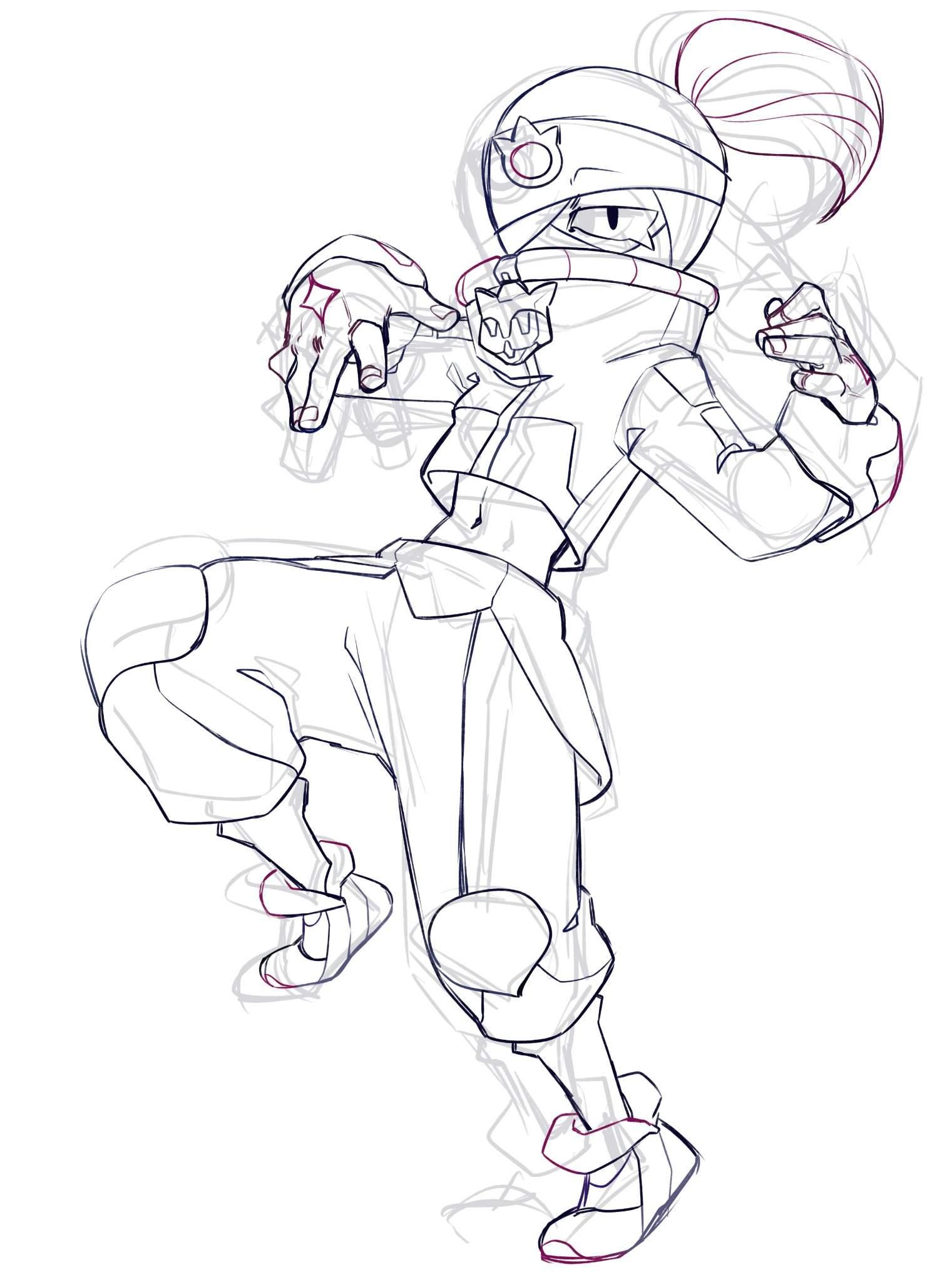 street ninja tara brawl stars coloring pages