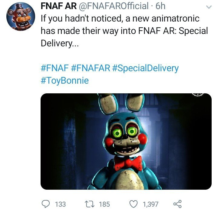 FNAF AR Finally Tweets A New Promotional Image For Toy