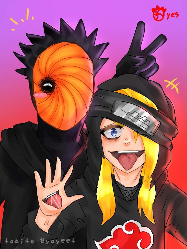Tobi Deidara Modern Hoodies Fanart Naruto Amino