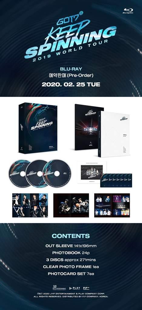 Image result for got7 2019 world tour 'keep spinning' dvd