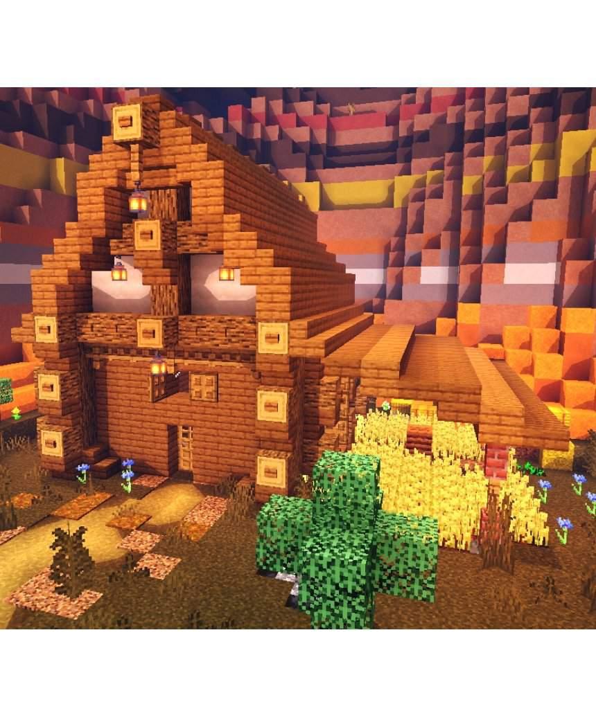 mesa biome house  Minecraft Amino