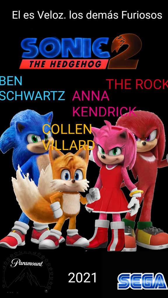 Poster Fanmade De Sonic La Pelicula 2 Sonic The Hedgehog Amino