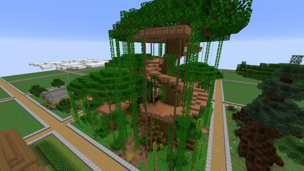 Jungle Treehouse Build Minecraft Amino