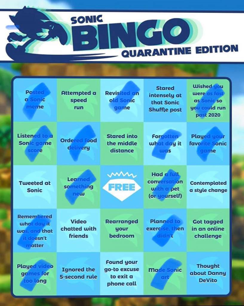 Sonic Bingo Quarantine Edition Sonic The Hedgehog Amino