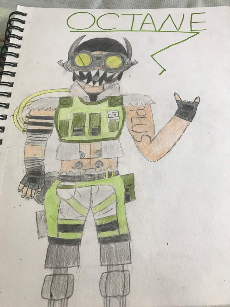 Octane but with color   (Apex Legends) Amino
