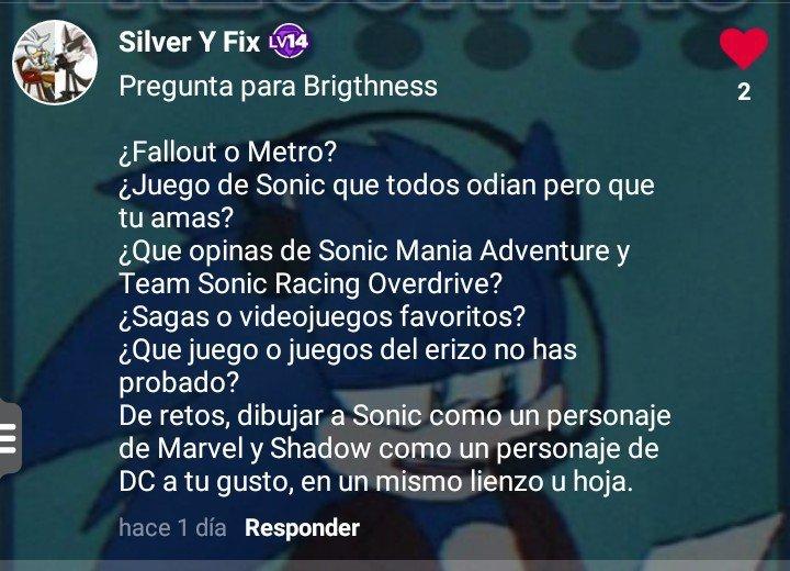Preguntas Y Respuestas 2 Sonic The Hedgehog Espanol Amino