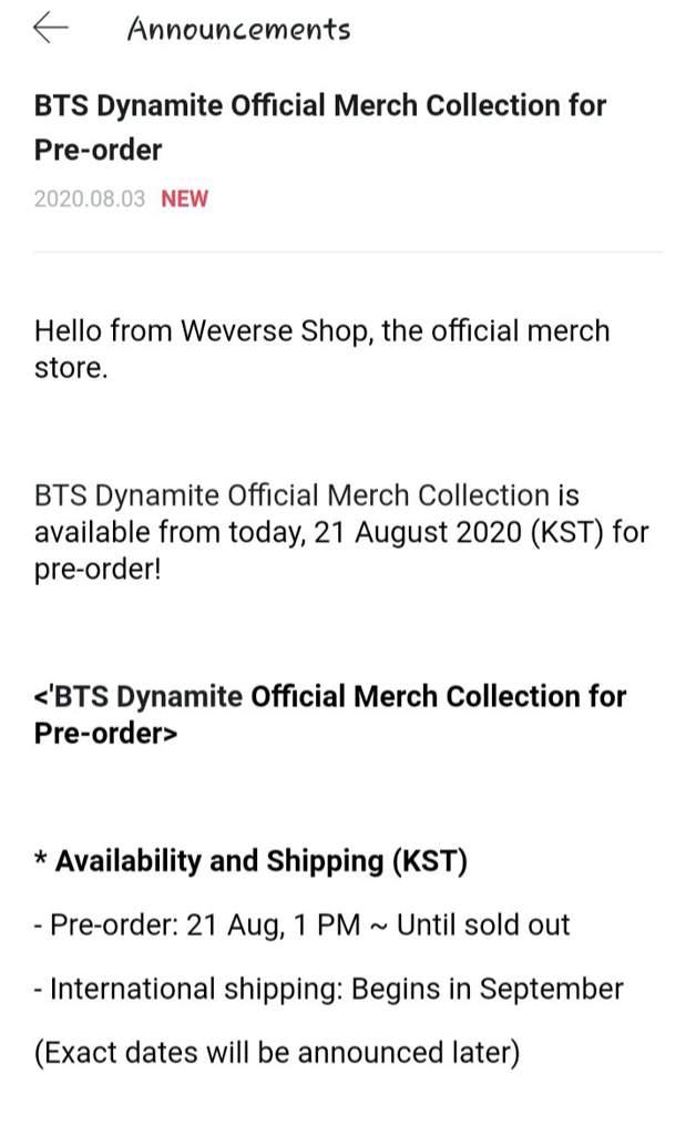 BTS Dynamite Official Merch on Weverse Shop & Official BTS ...