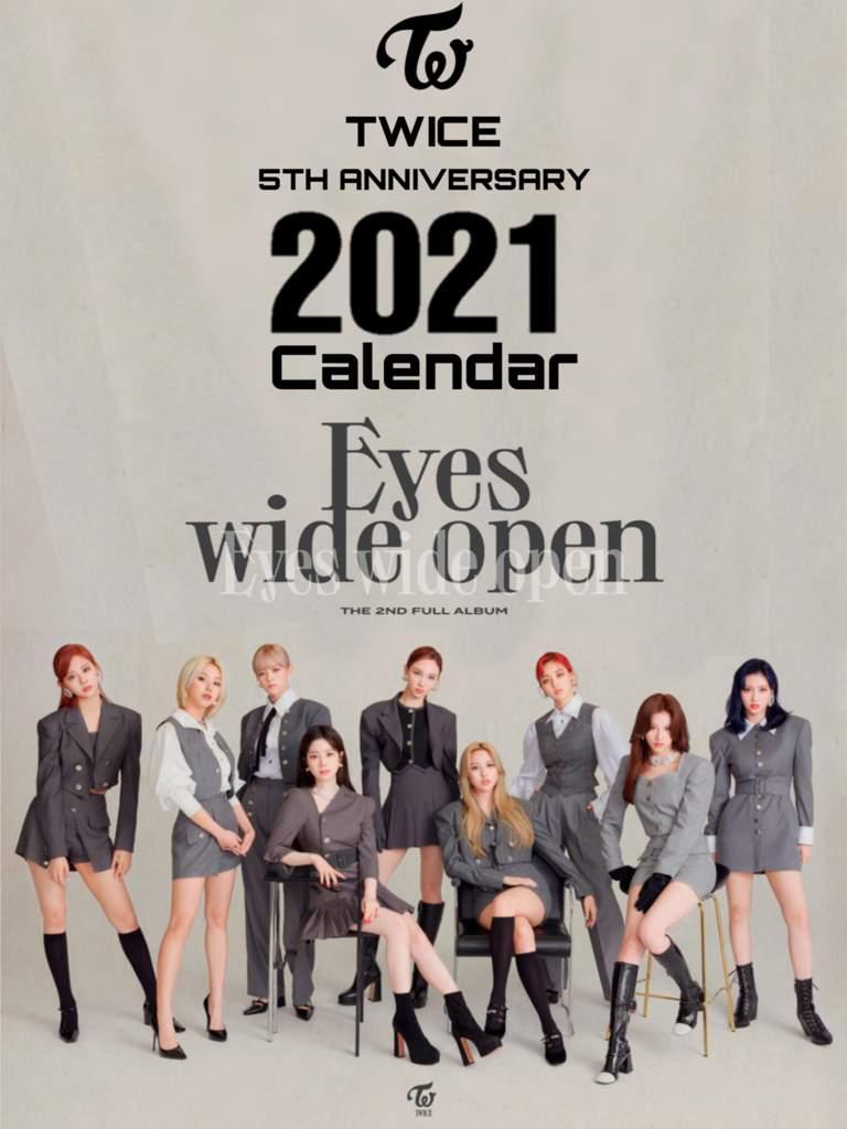 Twice 2021 Calendar Photos